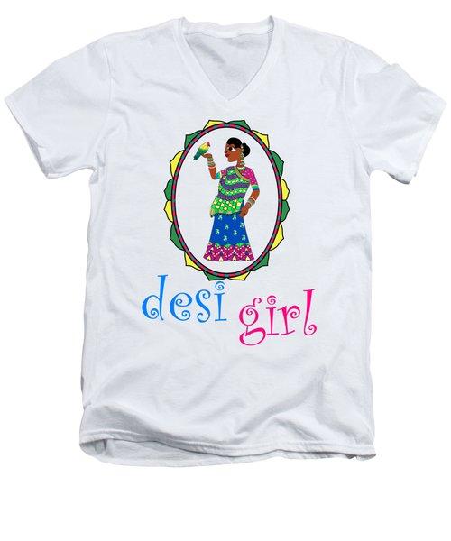 Desi Girl Men's V-Neck T-Shirt