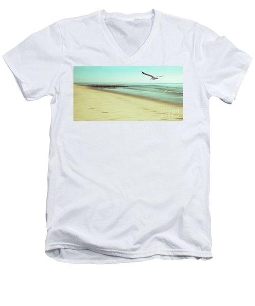 Men's V-Neck T-Shirt featuring the photograph Desire Light Vintage2 by Hannes Cmarits