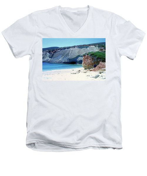 Desolated Island Beach Men's V-Neck T-Shirt