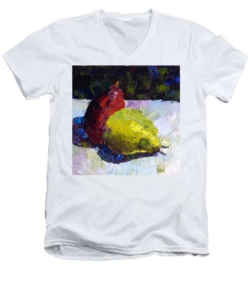 Deux D'anjou Men's V-Neck T-Shirt by Susan Woodward