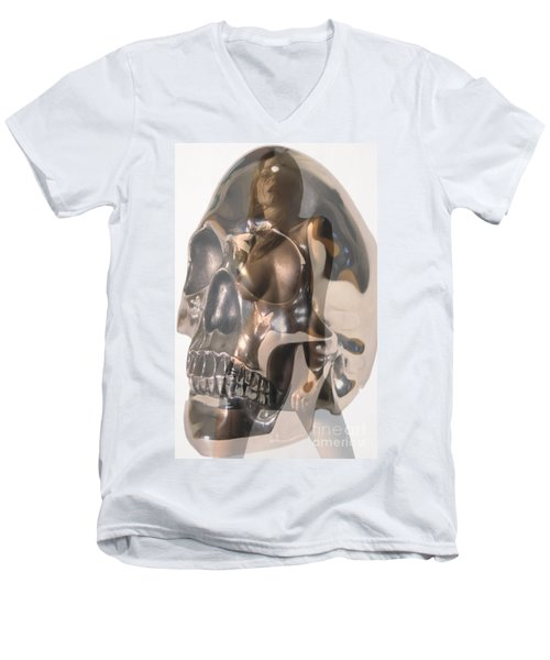 Men's V-Neck T-Shirt featuring the photograph Devils Dance by Tbone Oliver
