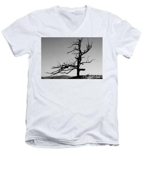 Devoid Of Life Tree Men's V-Neck T-Shirt
