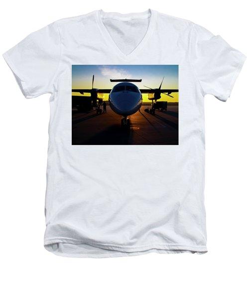 Dhc-8-300 Refueling Men's V-Neck T-Shirt