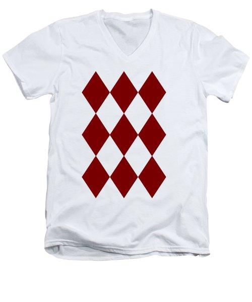 Diamond Poker Card Game Symbol Abstract Modern Art On T-shirts N Pod Navinjoshi Fineartameririca Men's V-Neck T-Shirt