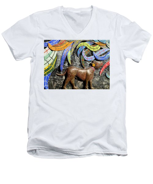 Diego Rivera Mural 4 Men's V-Neck T-Shirt