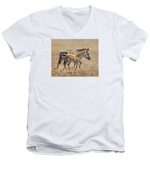 Different Stripes Men's V-Neck T-Shirt by Alice Cahill