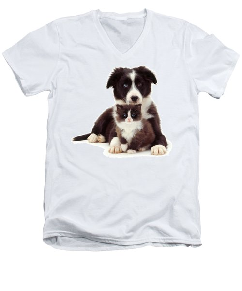 Different Strokes - Same Love Men's V-Neck T-Shirt