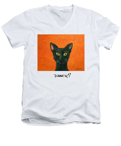 Dinner? 2 Men's V-Neck T-Shirt by Marna Edwards Flavell