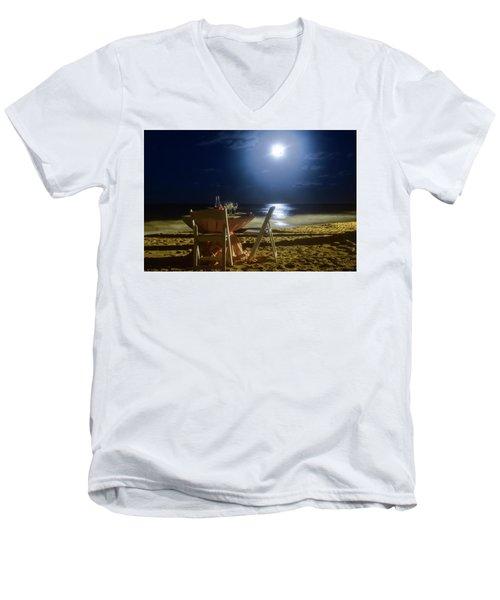 Dinner For Two In The Moonlight Men's V-Neck T-Shirt