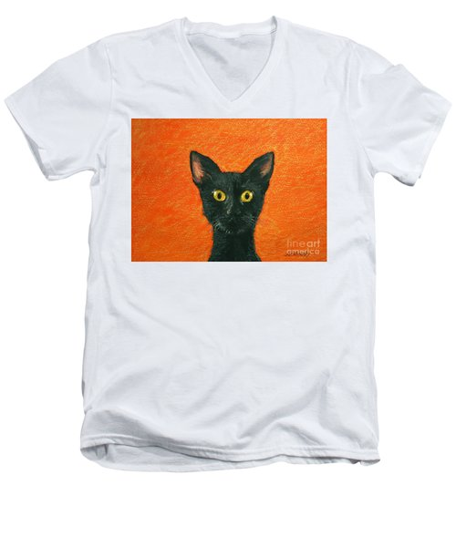 Dinner? Men's V-Neck T-Shirt by Marna Edwards Flavell