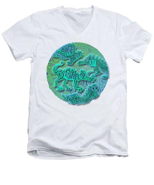 Dinos Men's V-Neck T-Shirt