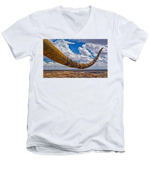 Dinosaur Tales Men's V-Neck T-Shirt by Gary Warnimont