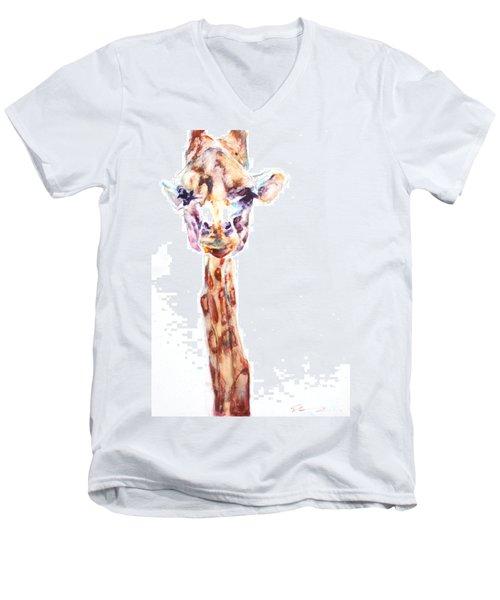 Disappointed Giraffe Men's V-Neck T-Shirt