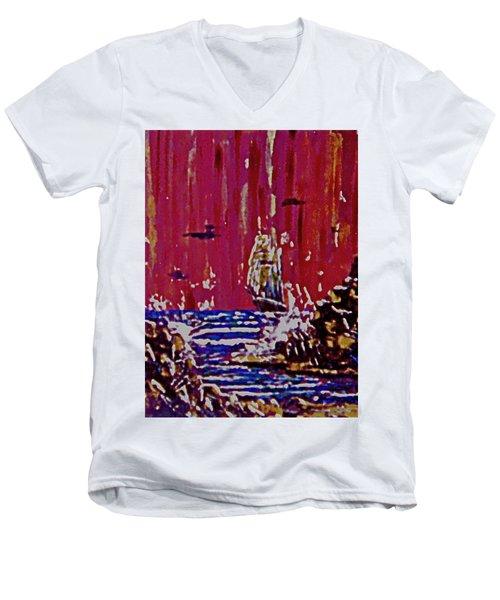 Disaster On The Reef Men's V-Neck T-Shirt