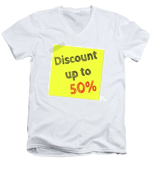 Discount Funny T-shirt Men's V-Neck T-Shirt by Esoterica Art Agency