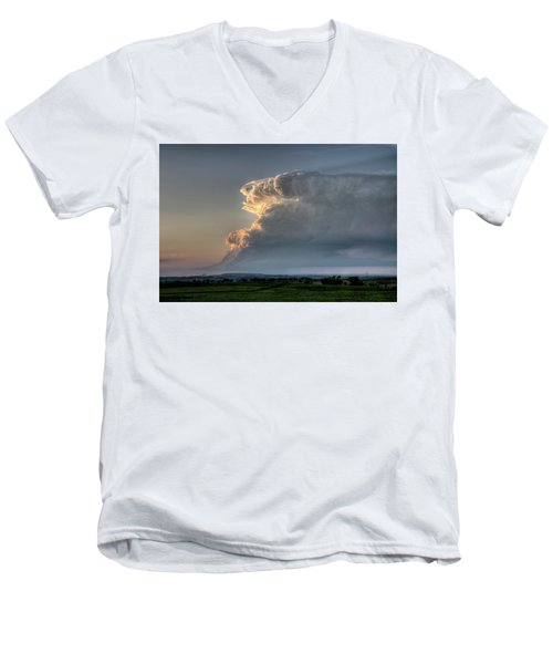 Distant Thunderstorm Men's V-Neck T-Shirt