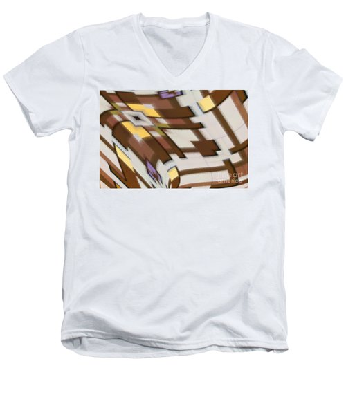 Men's V-Neck T-Shirt featuring the digital art Distortion by Wendy Wilton