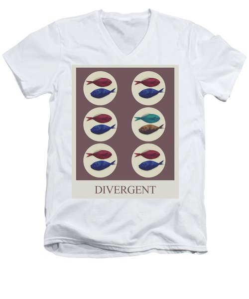 Divergent Men's V-Neck T-Shirt