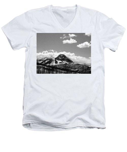 Divide In Blackand White Men's V-Neck T-Shirt