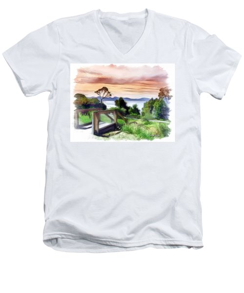 Do-00272 Look Out From Sarah Island Men's V-Neck T-Shirt