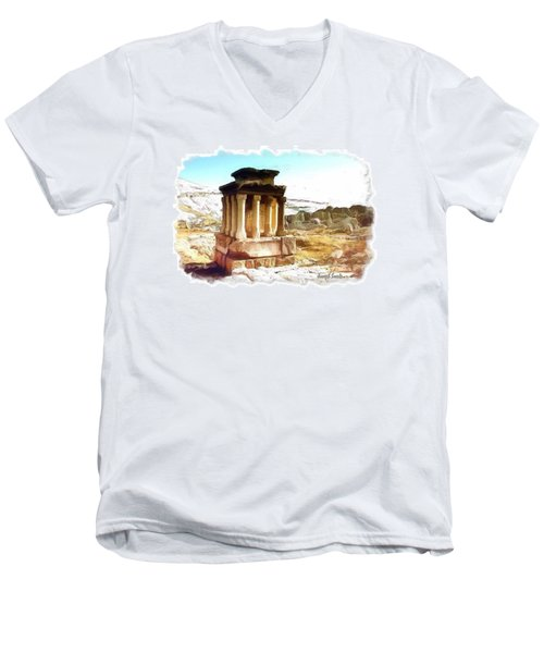 Do-00432 The Temple Of Faqra Men's V-Neck T-Shirt