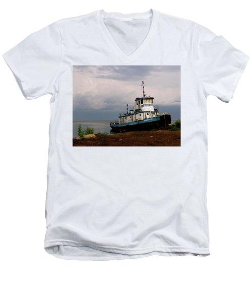 Docked On The Shore Men's V-Neck T-Shirt