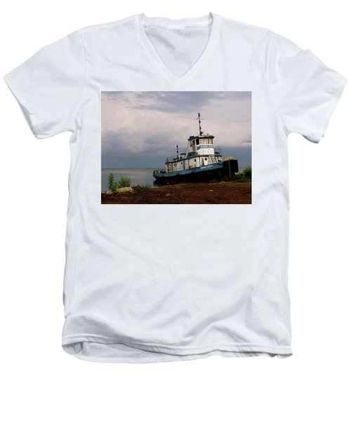 Docked On The Shore Men's V-Neck T-Shirt
