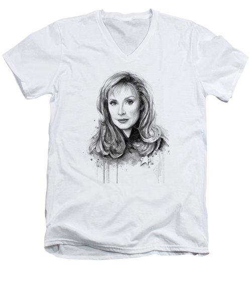 Doctor Beverly Crsuher Men's V-Neck T-Shirt by Olga Shvartsur