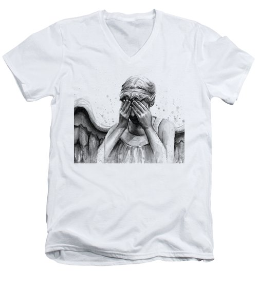 Doctor Who Weeping Angel Don't Blink Men's V-Neck T-Shirt