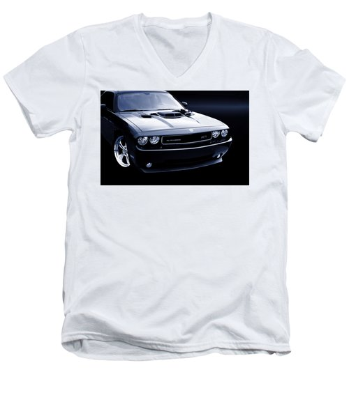 Dodge Challenger Blackbird Sr-71 Men's V-Neck T-Shirt