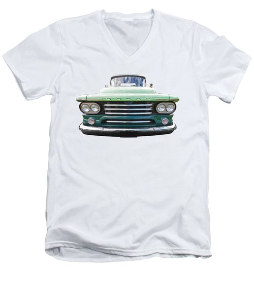 Dodge D100 Sweptside 1958 Men's V-Neck T-Shirt