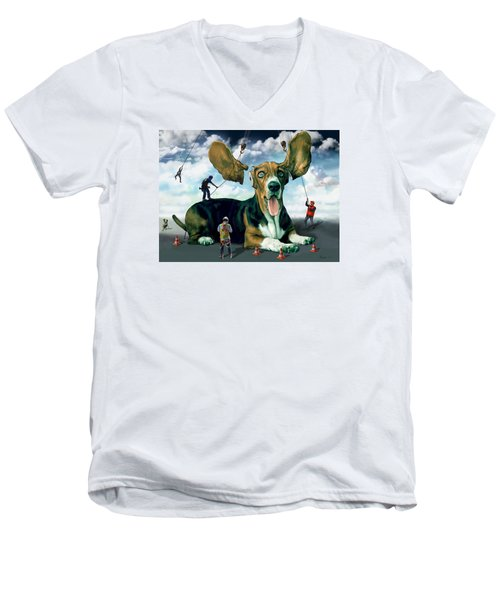 Dog Construction Men's V-Neck T-Shirt