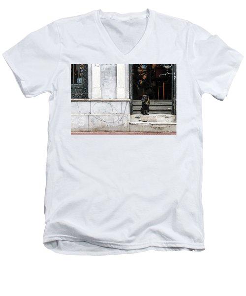 Dog From The Block Men's V-Neck T-Shirt