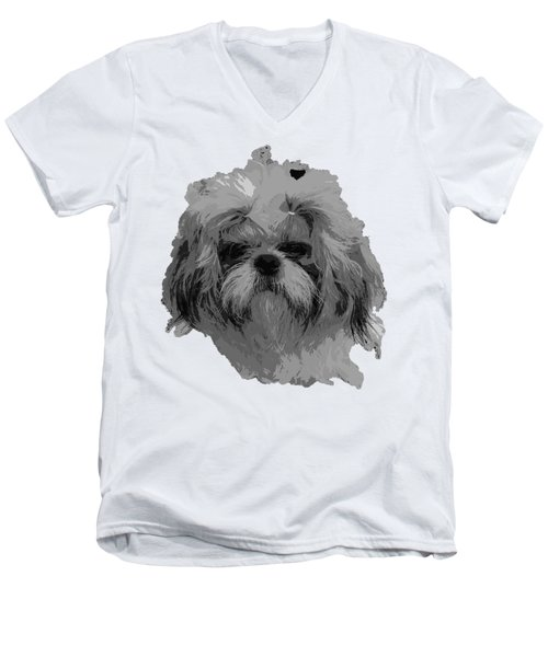 Dog Head  Men's V-Neck T-Shirt