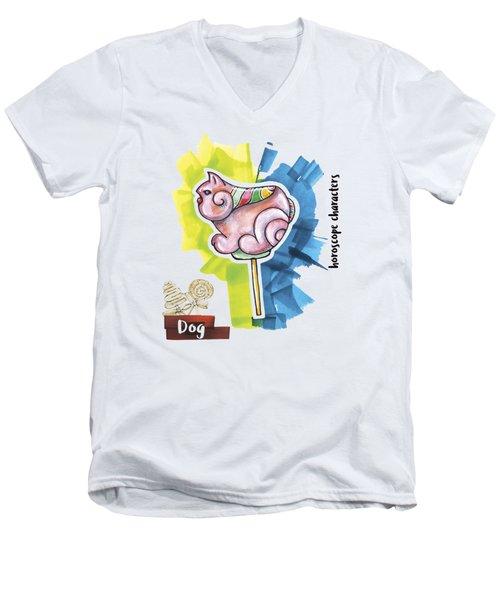 Dog Horoscope Men's V-Neck T-Shirt