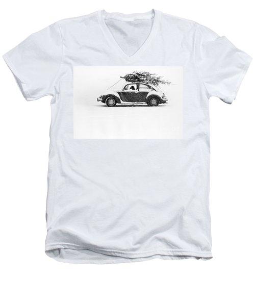Dog In Car  Men's V-Neck T-Shirt