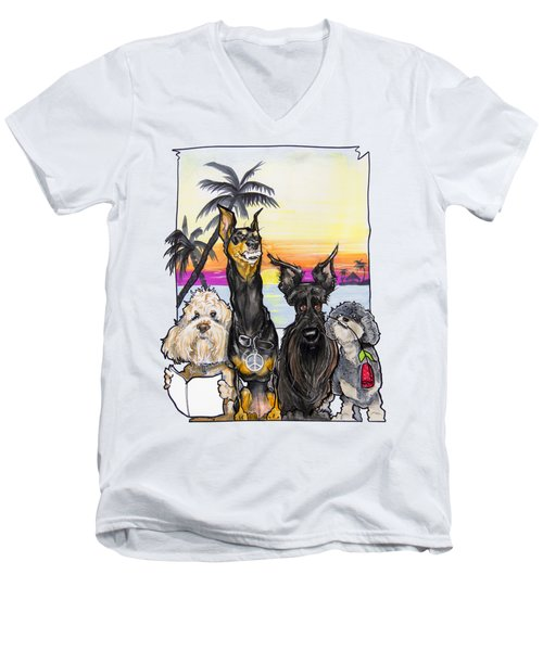 Dog Island Getaway Men's V-Neck T-Shirt