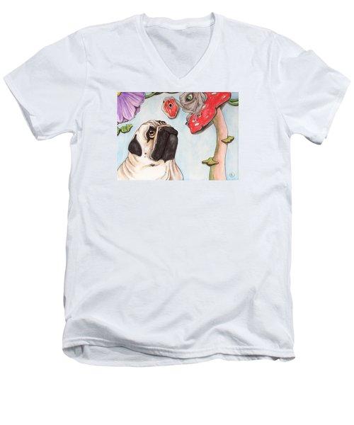 Dog Treat Men's V-Neck T-Shirt
