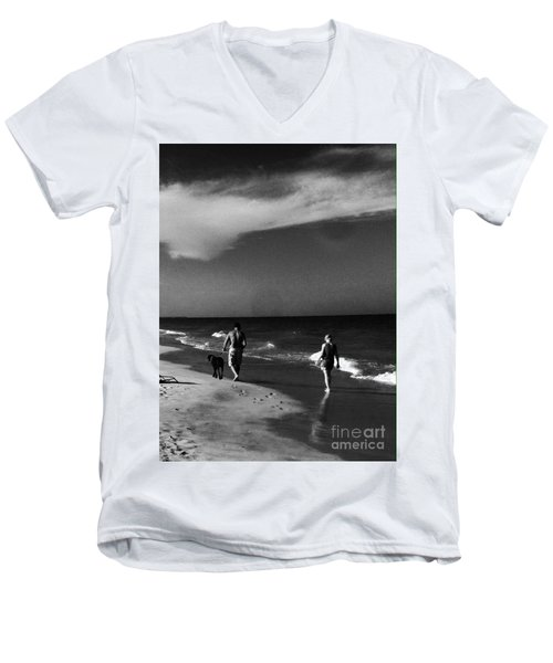 Dog Walk Men's V-Neck T-Shirt by WaLdEmAr BoRrErO