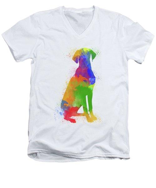 Dog Watercolor 1 Men's V-Neck T-Shirt