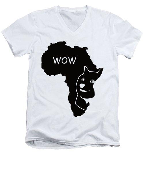 Dogecoin In Africa Men's V-Neck T-Shirt by Michael Jordan