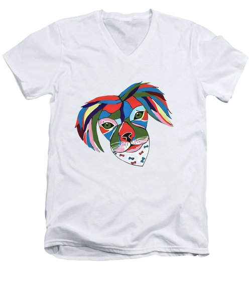 Doggie Dreams Men's V-Neck T-Shirt by Kathleen Sartoris
