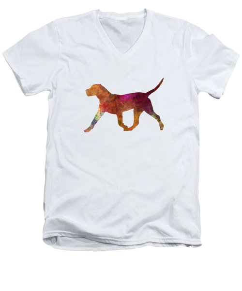 Dogo Canario In Watercolor Men's V-Neck T-Shirt by Pablo Romero