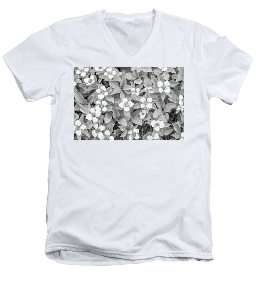 Dogwood In The Rain Men's V-Neck T-Shirt