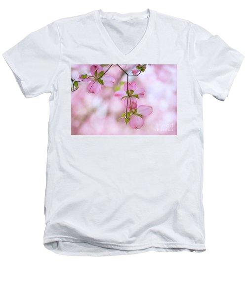 Dogwood Sunset Men's V-Neck T-Shirt by Rima Biswas