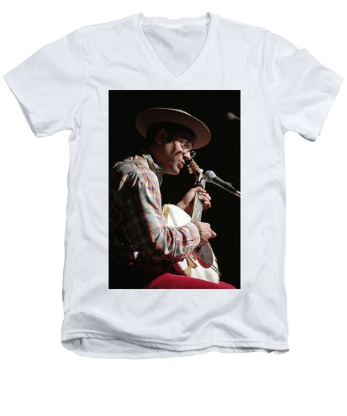 Men's V-Neck T-Shirt featuring the photograph Dom Flemons by Jim Mathis