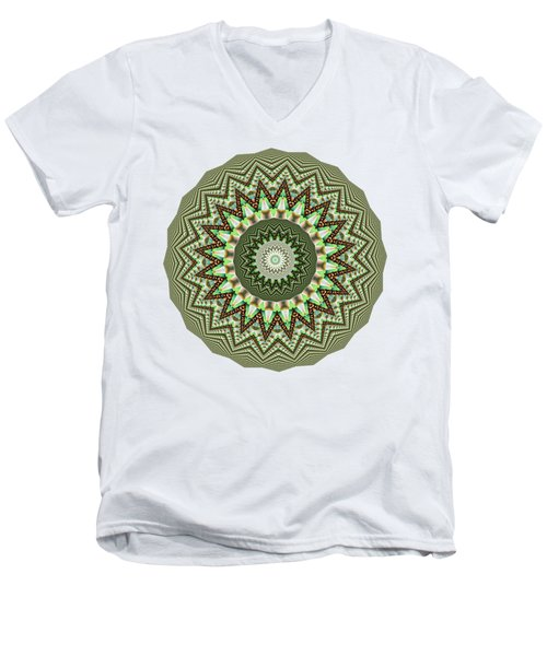 Dome Of Chains Mandala By Kaye Menner Men's V-Neck T-Shirt by Kaye Menner