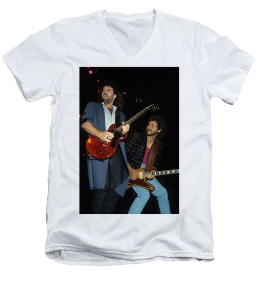 Don Barnes And Jeff Carlisi Of 38 Special Men's V-Neck T-Shirt