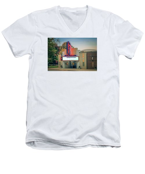 Don Gibson Theatre Men's V-Neck T-Shirt by Marion Johnson