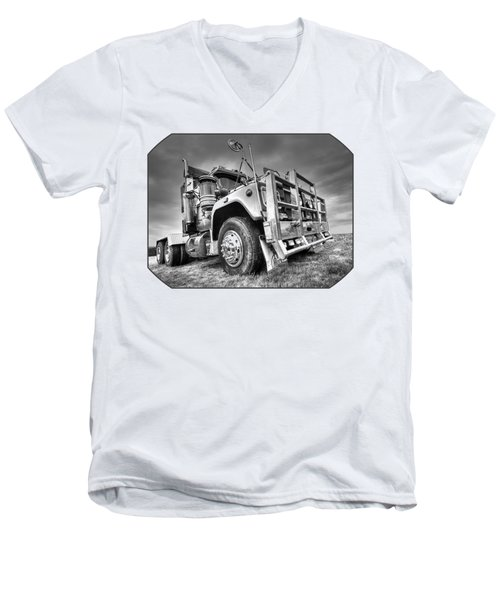 Done Hauling - Black And White Men's V-Neck T-Shirt